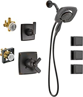 Delta KS17264I-DRB50-RB Ashlyn Monitor Shower Kit with In2ition, 3-Setting 2-Port Diverter, and 3 Square Surface Mount Body Sprays, Venetian Bronze