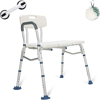 GreenChief Bariatric Tub Transfer Bench 400 Lb - Heavy Duty Bath & Shower Assist - Adjustable Handicap Shower Chair - Medical Bathroom Accessibility Aid for Elderly, Disabled, Seniors