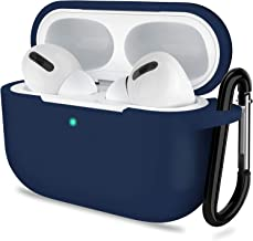 AirPods Pro Case, ATUAT Protective Silicone Cover Compatible with Apple AirPods Pro (2019) - Midnight Blue