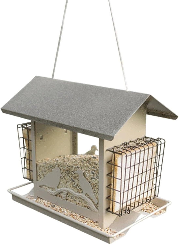 QINAIDI Home With Pet Bird Feeder Outdoor Balcony Garden Wild Bird Nest Bird House Feeding Bird Supplies