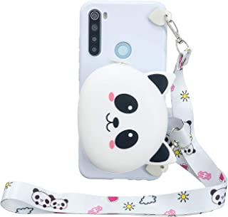 Everainy Funda Compatible para Xiaomi Redmi Note 8T Silicona TPU Gel con cord/ón Cover Bumper Ultrafina 3D Cartera Goma Case Caso Caucho Antigolpes Parachoque Panda 1