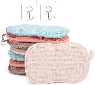 ZITFRI 8 Pcs Eponge Lavable Vaisselle Reutilisable Eponge a Recurer en Microfibre pour Nettoyer Poêlons Poêles Pots avec 2...