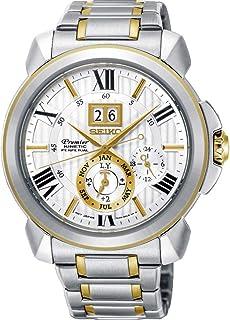 Seiko - Reloj Analógico para Hombre de Kinetico con Correa en Acero Inoxidable SNP152P1