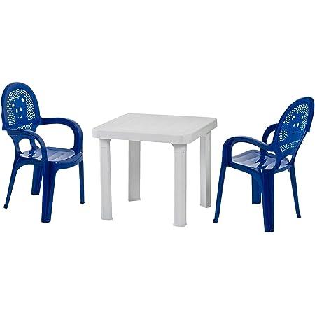 Lot de 2 chaises et 1 table