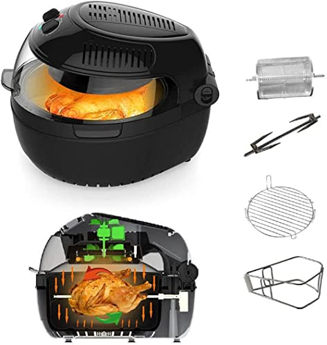 10 Liter Air Fryer with Control Panel – Premium Quality –Turbo Air Technology- Less Oil Frying - For A Boil, Grill an...