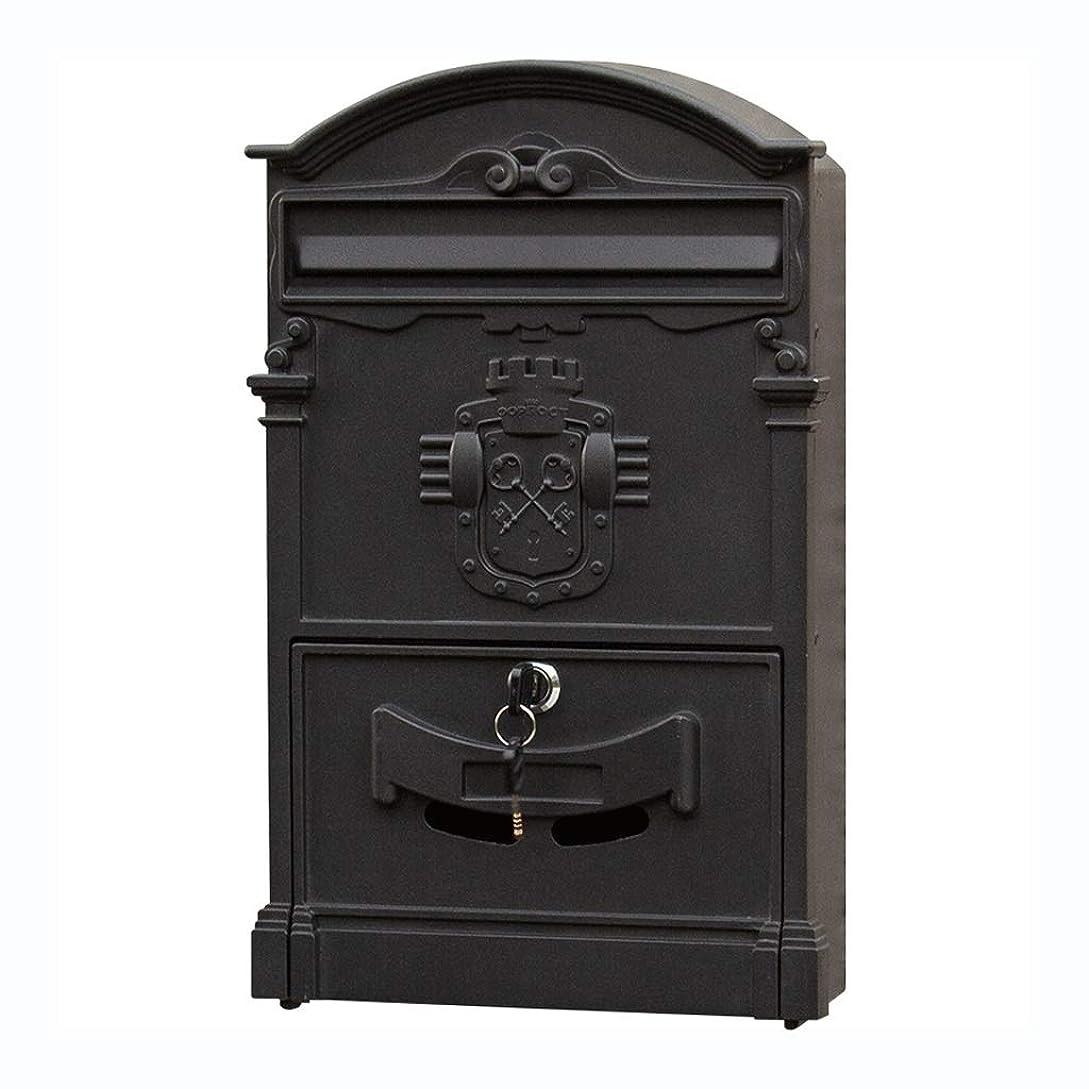 本土うまれた悔い改めるロックメールボックス付きメールボックスヴィラ屋外の防水レターボックス壁ポストボックス提案ボックスクリエイティブレトロなメールボックス (色 : B)