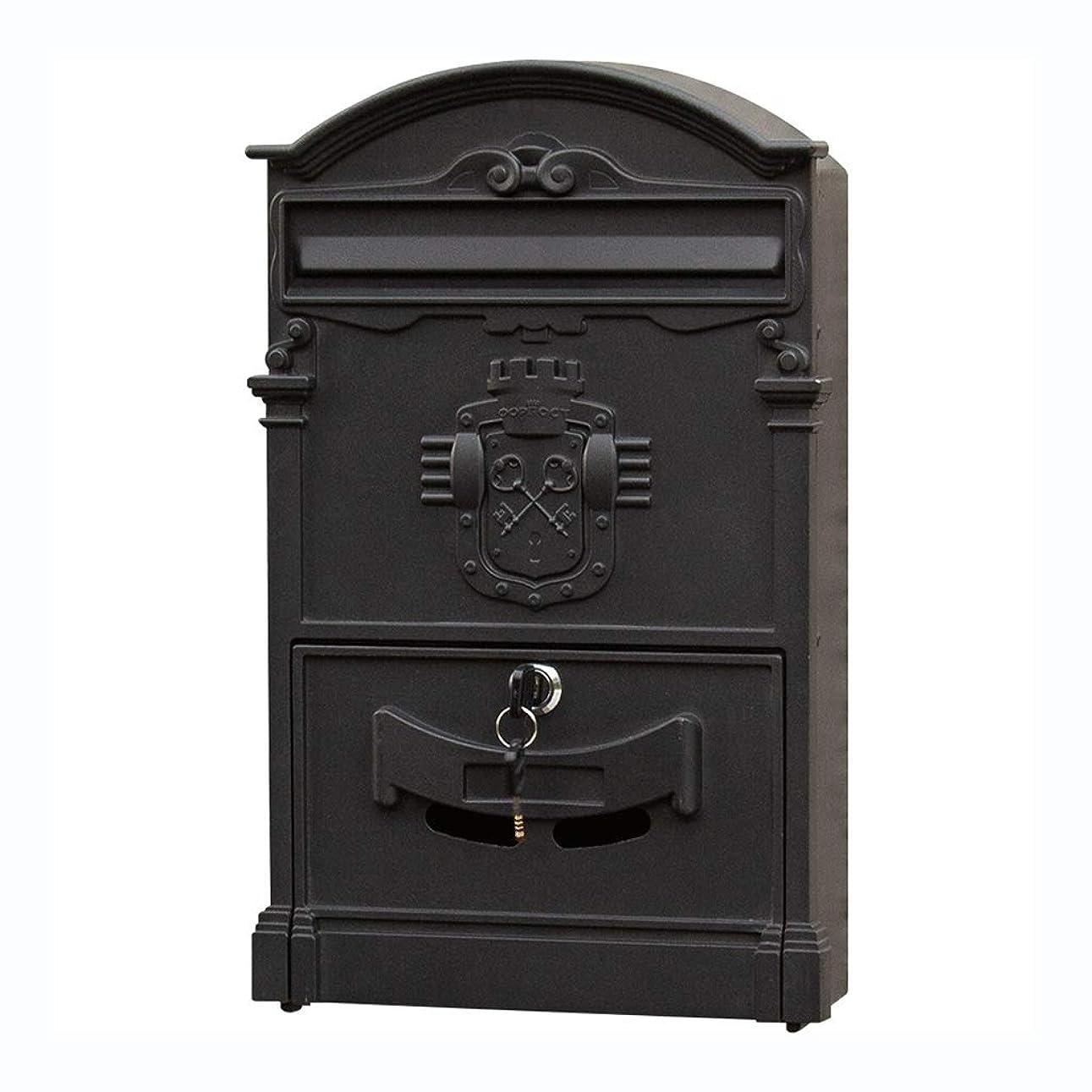中古連続的アルプスロックメールボックス付きメールボックスヴィラ屋外の防水レターボックス壁ポストボックス提案ボックスクリエイティブレトロなメールボックス (色 : B)