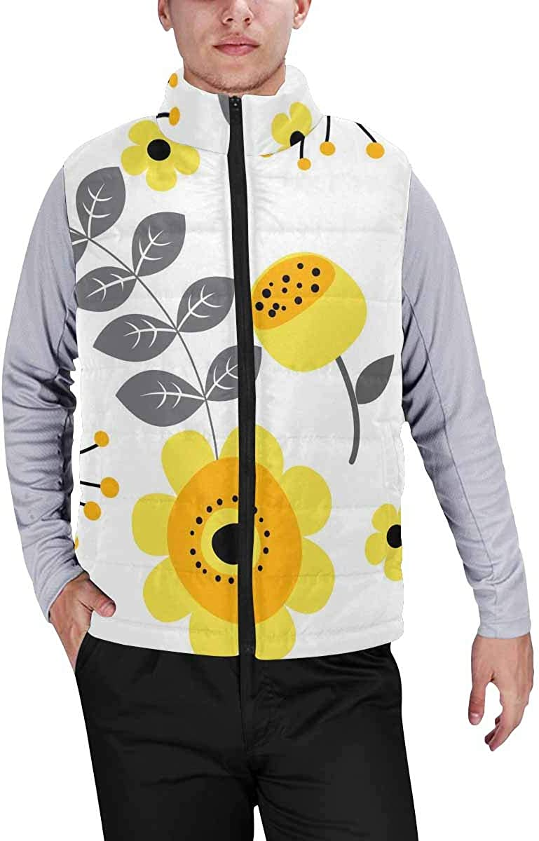 InterestPrint Men's Soft Stand Collar Jacket for Fishing Hiking Cycling Soleil Cosmos Astrology Pattern