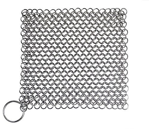 DingSheng gietijzeren reiniger. Steel Scrubber - Kookgerei Cleaner voor Keuken Skillet, Wok, Pot, Pan met 6