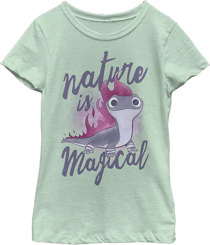 Disney Frozen 2 Nature Salamander Girl's Heather Crew Tee