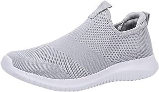 Chaussures De Course Sport Running Mesh Respirantes Confortable Léger Basket Basse Pas Cher Chaussures sans Lacets Casual ...