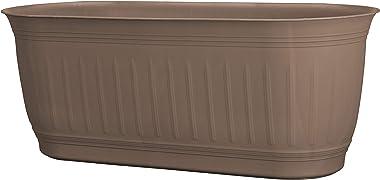 "Bloem CLNWB24-43 Colonnade Wood Resin Window Box Planter 24"", Dark Earth Brown"