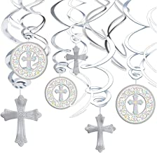 amscan Multicolored Foil Swirls, Value Pack, 12 Ct.   Communion Decoration