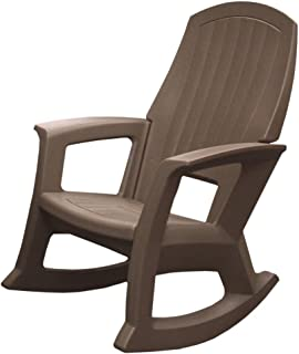 Taupe Outdoor Rocking Chair, 600-Lb. Capacity