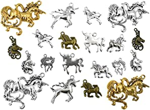 10pcs Tibetan Style Hollow Beads Horse Animal Jewelry Making Antique Silver 15mm