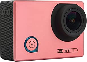 for for F80 4K Portable WiFi Waterproof StarVision Sport Camera, 2.0 inch Screen, Novatek 96660, 170 Degrees Wide Angle Lens, Support TF Card/HDMI(Black) Sports Camera (Color : Pink)
