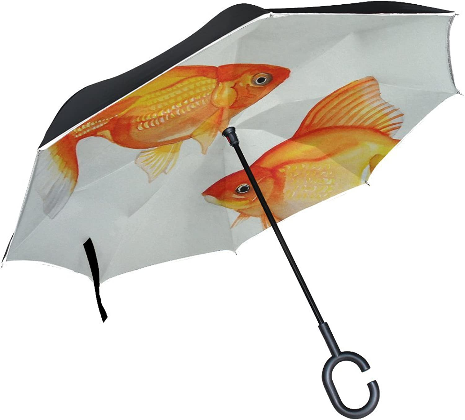Animal Fish Butterfly Tail Adorable Little Water Sea Cute Mix Ingreened Umbrella Large Double Layer Outdoor Rain Sun Car Reversible Umbrella