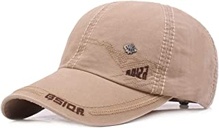 AMAZACER 100% Cotton Adjustable Baseball Cap Unisex Snapback Trucker Hat (Color : Beige)