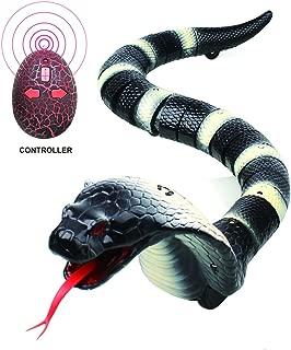 Remote Control Snake Toys, Realistic Fake Snake Infrared Remote Control Plastic Tricky Toy Snake Garden Props GAG Joke Prank Gift