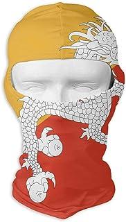 sport outdoor 003 Bhutan Flag Unisex Outdoor Sunscreen Windproof Mask Neck Scarf Balaclava Headgear Hood Motorcycle Cycling Fishing Face Mask