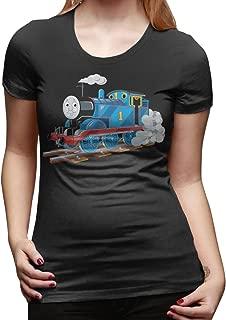 VELE KATEO Thomas The Train Women's O-neck Collar Shirt Short Sleeve Tees