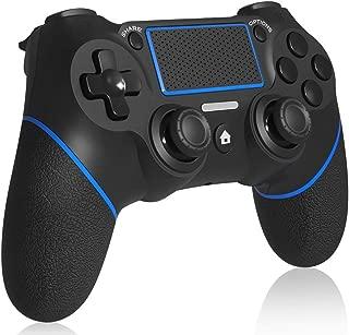 PS4コントローラー ワイヤレス マット質感 PS3 PC PS4 pro slim対応 イヤホンジャック 振動機能 ゲームパッド ゲームコントローラ USB 無線接続 安定性抜群