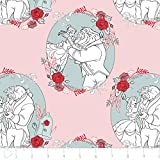 Disney Beauty and the Beast Fabric Belle Love in Light Pink From 100% Cotton By the Yard