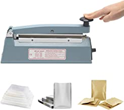Hanchen Plastic Zak Sealer 200mm/7.8 inch Heat Sealer Bag Afdichtingsmachine 300 W voor Mylar Bag Kraft Papier Zak Warmtea...