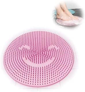 SHOOTING 足洗い用 バスマット 足洗いマット フット 汚れ角質除去 ストレス解消 (ピンク)