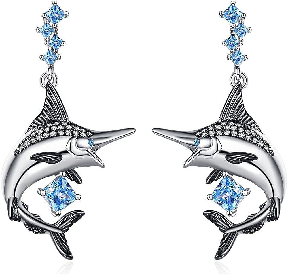 Dangle Earrings Jewelry for Women Clip on Earrings, Similanka Stud Hypoallergenic Diamond Tuna Cute Earrings for Women