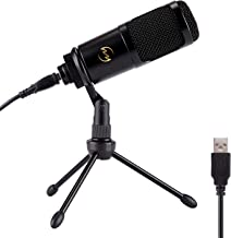 ZINGYOU USB Condenser Microphone Bundle, ZY-905 Professional Desktop Cardioid Mic Kit for Studio Recording Singing Gaming Podcast Suitable for Phone Mac and Windows System Laptop or Computer (Black)