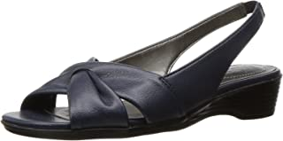 LifeStride Women's Mimosa 2 Flat Sandal, Lux Navy, 9.5 N US
