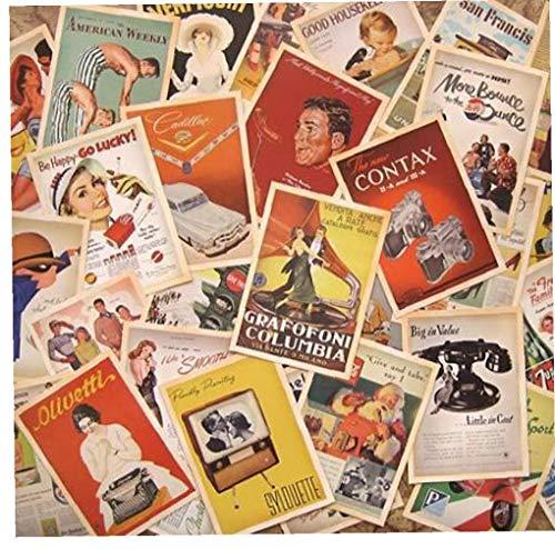 32pcs / Lot Style Vintage Mémoire Jeu De Cartes Postales Cartes De Voeux Rétro Carte Vierge Bénédiction Carte Postale Avec Bos Pour Les Cartes-cadeaux Du Nouvel an