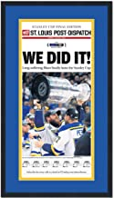 Framed St. Louis Post Dispatch We Did It Blues 2019 Stanley Cup Champions 17x27 Hockey Newspaper Cover Photo Professionally Matted