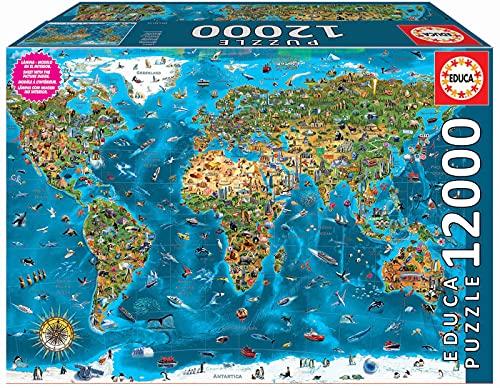 Educa - XXL Puzzles, Maravillas del mundo, Puzzle Gigante de 12000 piezas (Ref. 19057)