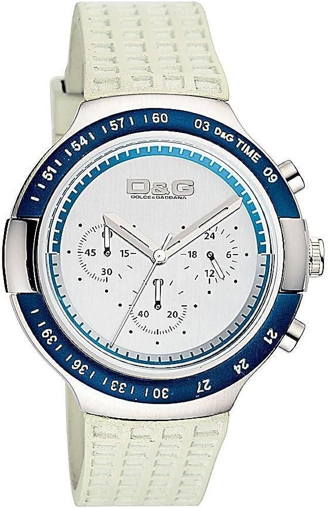 Dolce & gabbana, orologio da uomo,cinturino in caucciù e cassa in acciaio Dw0417