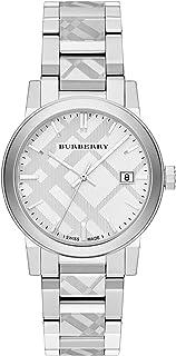 Swiss Rare Engraved Silver Date Dial 38mm Unisex Men Women Stainless Steel Wrist Watch The City BU9037