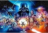 Guerra de Las Galaxias,Puzzle 1000 Piezas,Juegos De Puzzle para Adultos Rompecabezas De PapelA584(38 * 26cm)