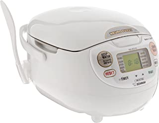 Zojirushi NS-ZCC10 5.5 Cup Neuro Fuzzy Rice Cooker And Warmer In Premium White