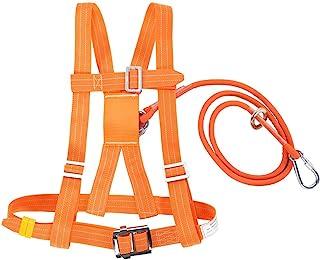 Arnés de Escalada, Medio Cuerpo Cinturón de Seguridad Ajustable Arnés de Escalada al Aire Libre para Trabajos Aéreos(SMALL 3m)