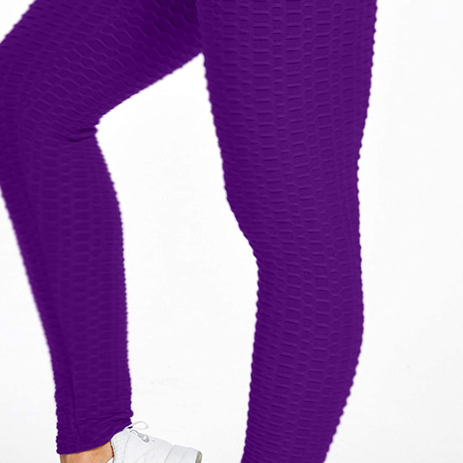 TIK Tok Leggings Womens Buble Hip High Waist Bubble Butt Lifting Fitness Yoga Pants Anti Cellulite Ruched Waffle Legging Bubble Textured Workout Tummy Control Gym Tights