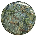 """Fit's a Spare Tire with 25.5"""" Diameter (including Rim and Rubber) The fabric is designed to look like a 3-D forest and blends into most any landscape Photo-realistic Camouflage Allows Your Tire to Virtually Disappear, Secures with an elastic inside h..."""