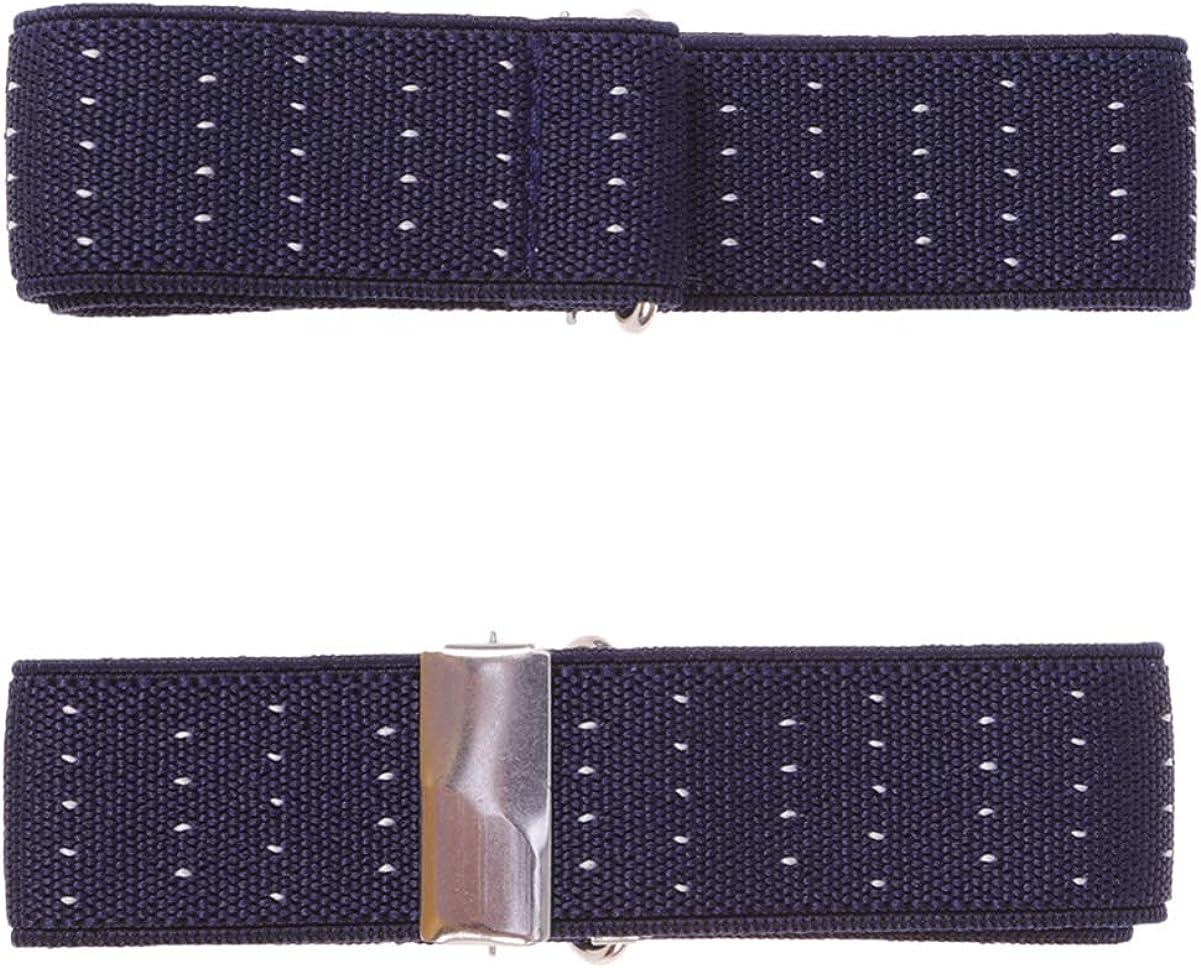 SUPVOX 1 Pair Elastic Sleeve Garter Non Slip Adjustable Armbands Shirt Garters Sleeve Holders for Men Women 2.5cm (Black)