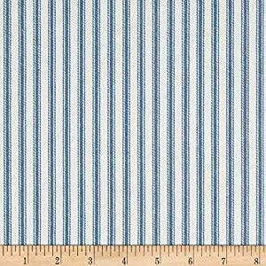 Waverly Classic Ticking Denim, Fabric by the Yard
