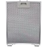 Spares2go Cooker Hood Metal Grease Filter (Silver, 320 x 260mm)