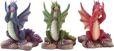 Gifts & Decor Evil Dragons, Blue