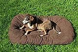 Alpenfell Hundebett XL Braun/Schwarz - kuscheliges, waschbares Hundebett, Hundekorb, Hundesofa aus Baumwolle - leicht zu reinigen - Maße: 120 x 75 x 15 cm - von