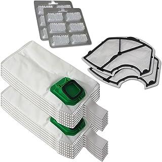 Filterprofi - Kit de 12bolsas (microfibra) + 12ambientadores + 2filtros de motor para aspiradora Vorwerk Folletto Kobol...