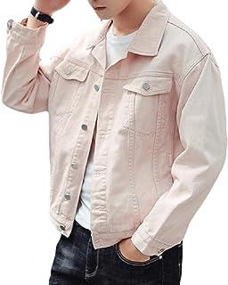 f1490bca Abetteric Men's Washed Pockets Skinny Denim Jean Jacket Coats Outerwear