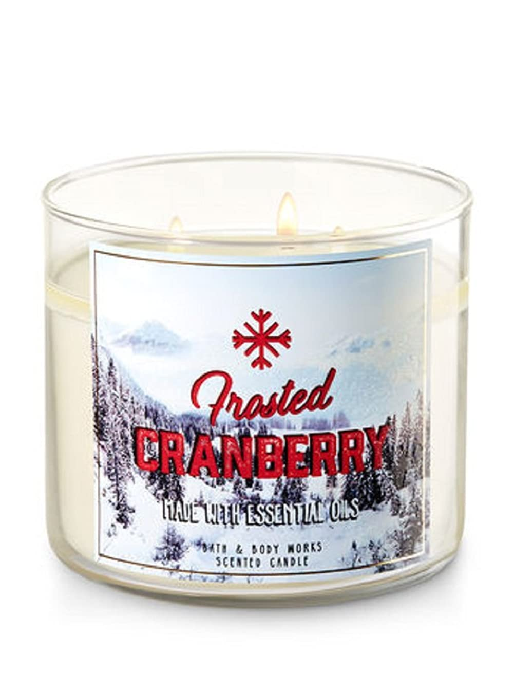 Bath & Body Works 3-Wick Candle in Frosted Cranberry